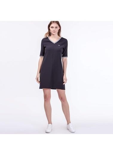 V Yaka Kısa Kollu Elbise-Lacoste